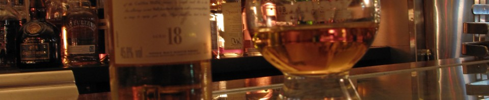 Talisker 18y with Katherine at the Whisky Cafe