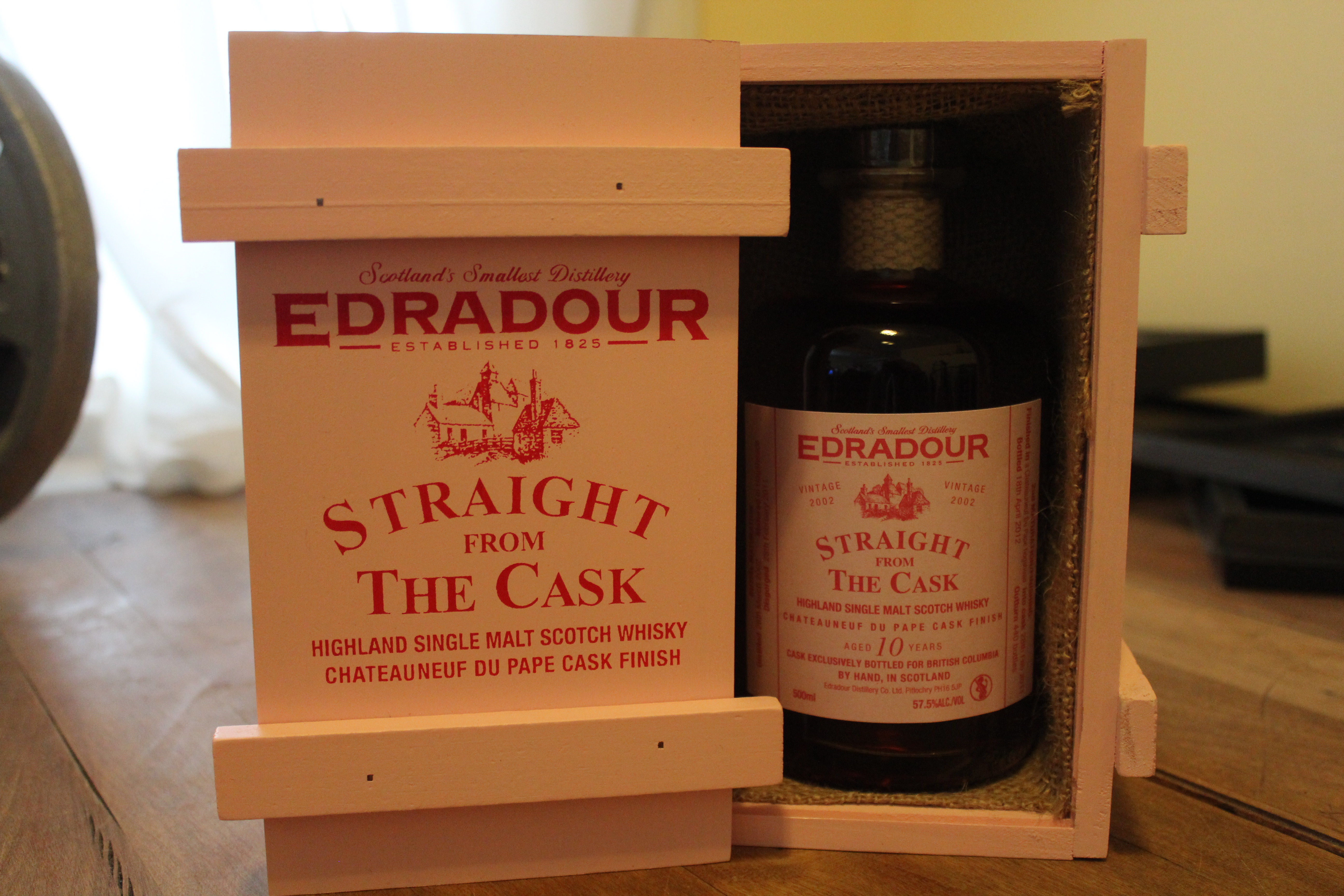 Edradour Straight from the Cask 10y Chateauneuf du Pape Cask Finish with The Dan