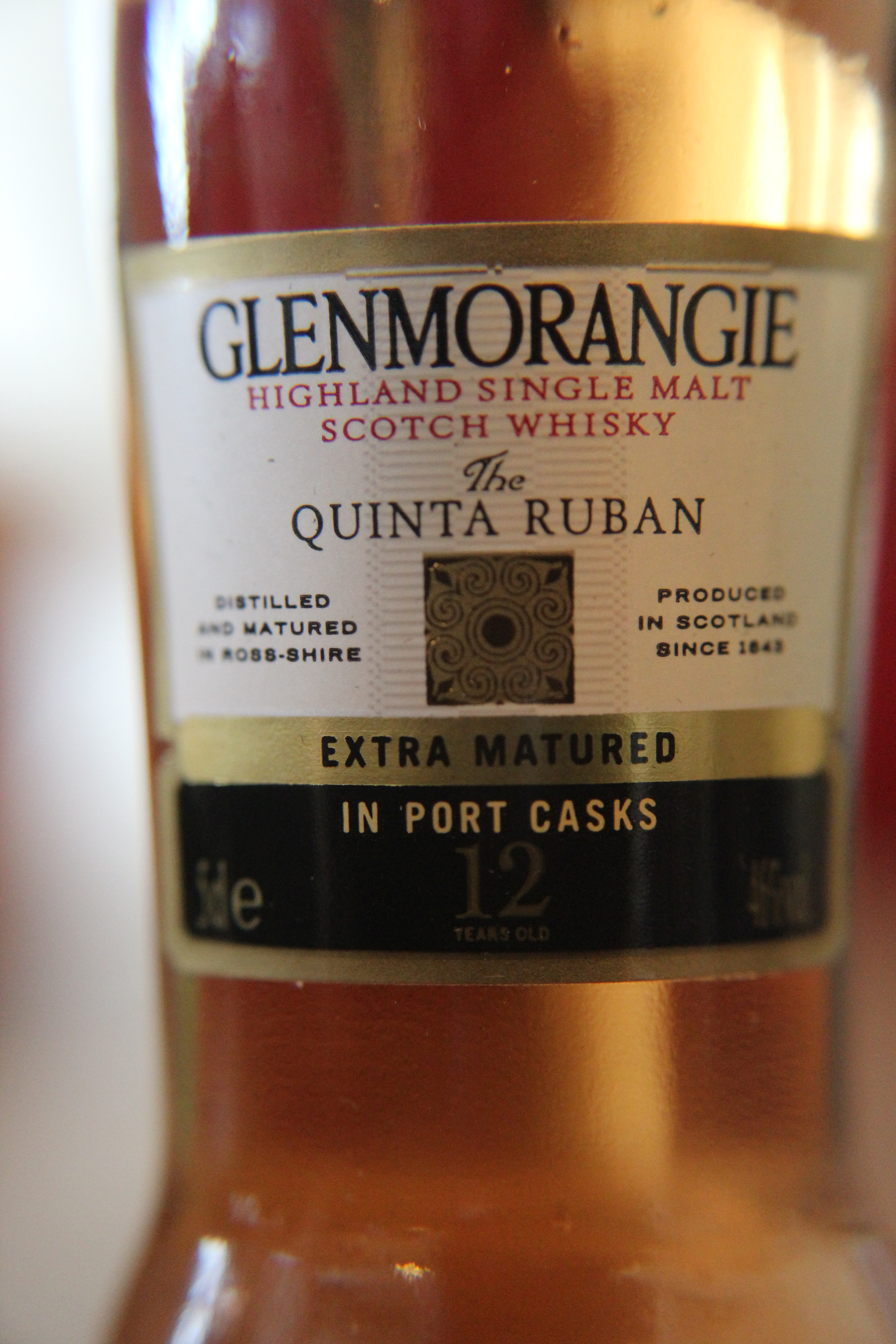 Glenmorangie 12y Quinta Ruban with Dan