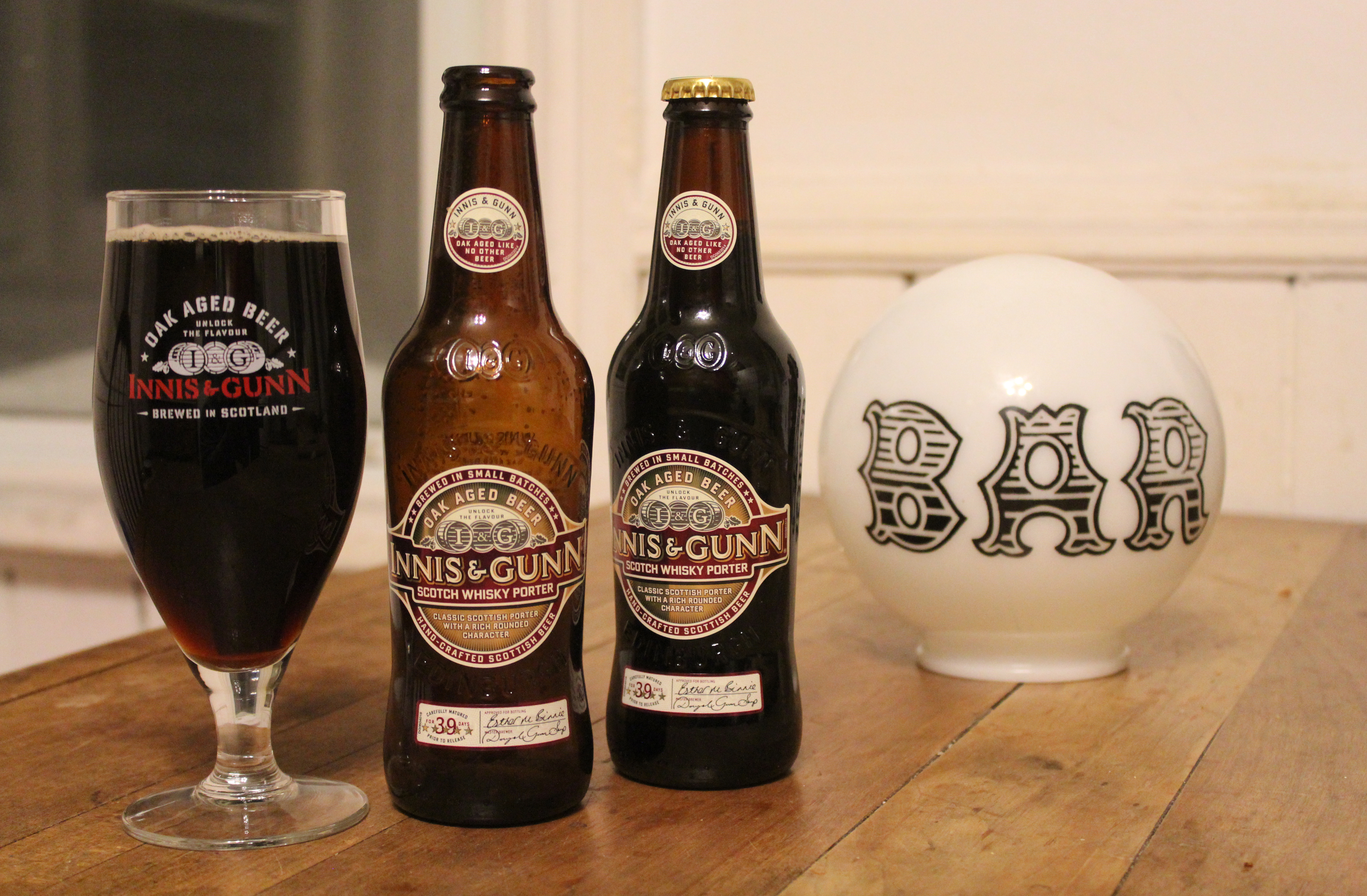 Innis & Gunn Scotch Whisky Porter with Davey