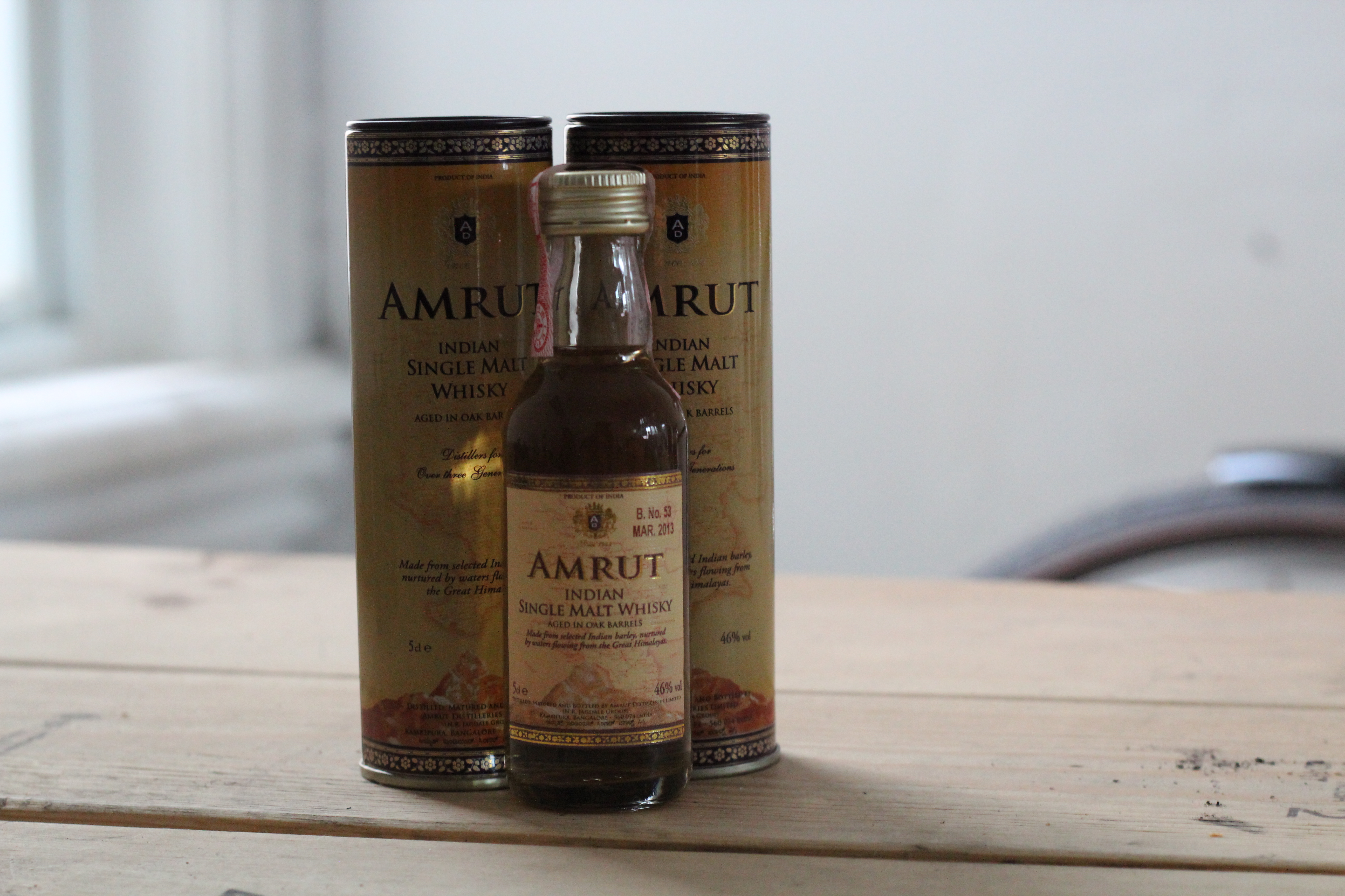 Amrut Single Malt with Davey