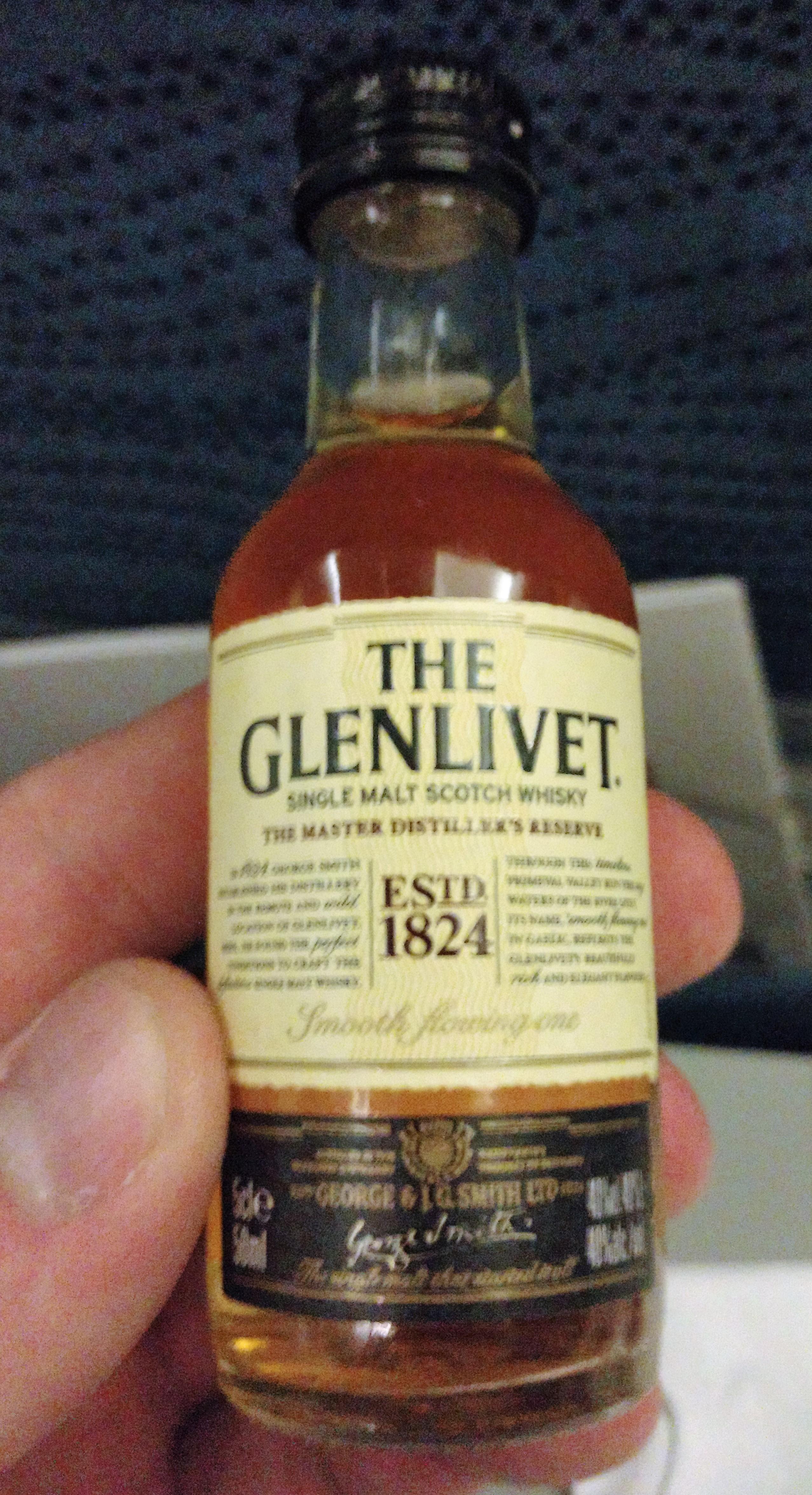 Glenlivet Master Distiller's Reserve On A Plane