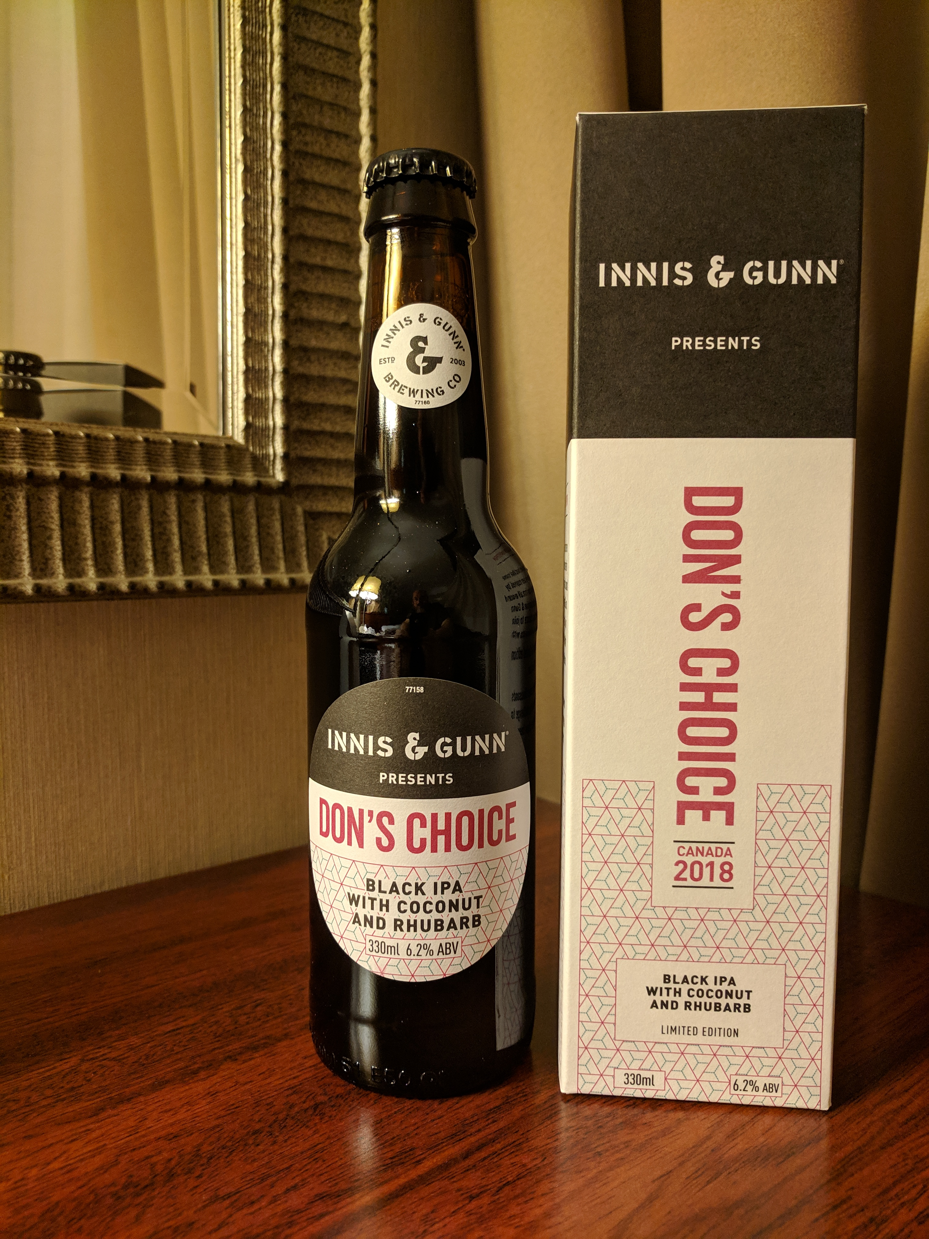 Innis & Gunn Don's Choice Black IPA with Coconut & Rhubarb in Winnipeg & Also Dan