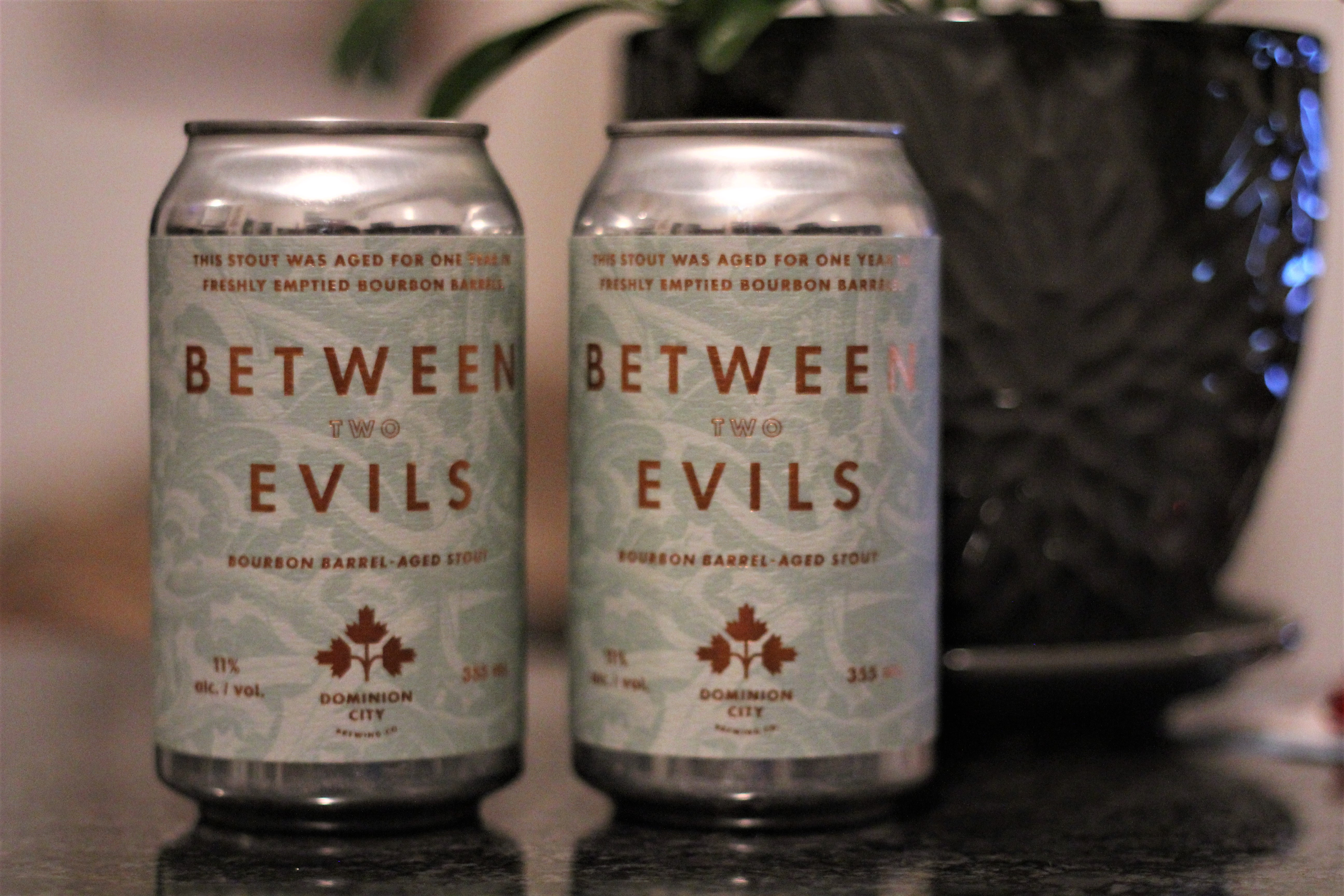 Dominion City Brewing Between Two Evils Imperial Stout with Davey