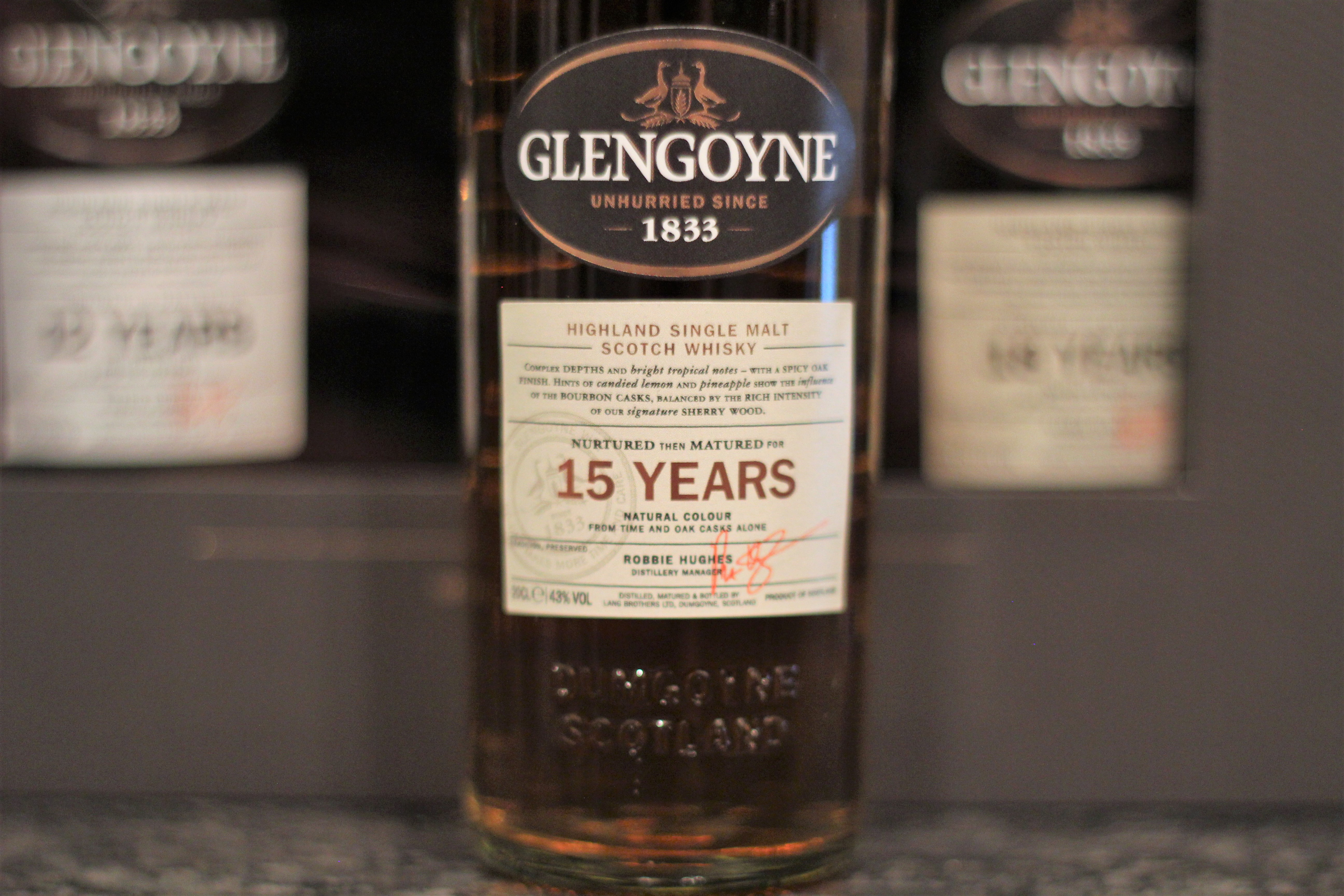 Glengoyne 15y with Dan, Bowick & Steph