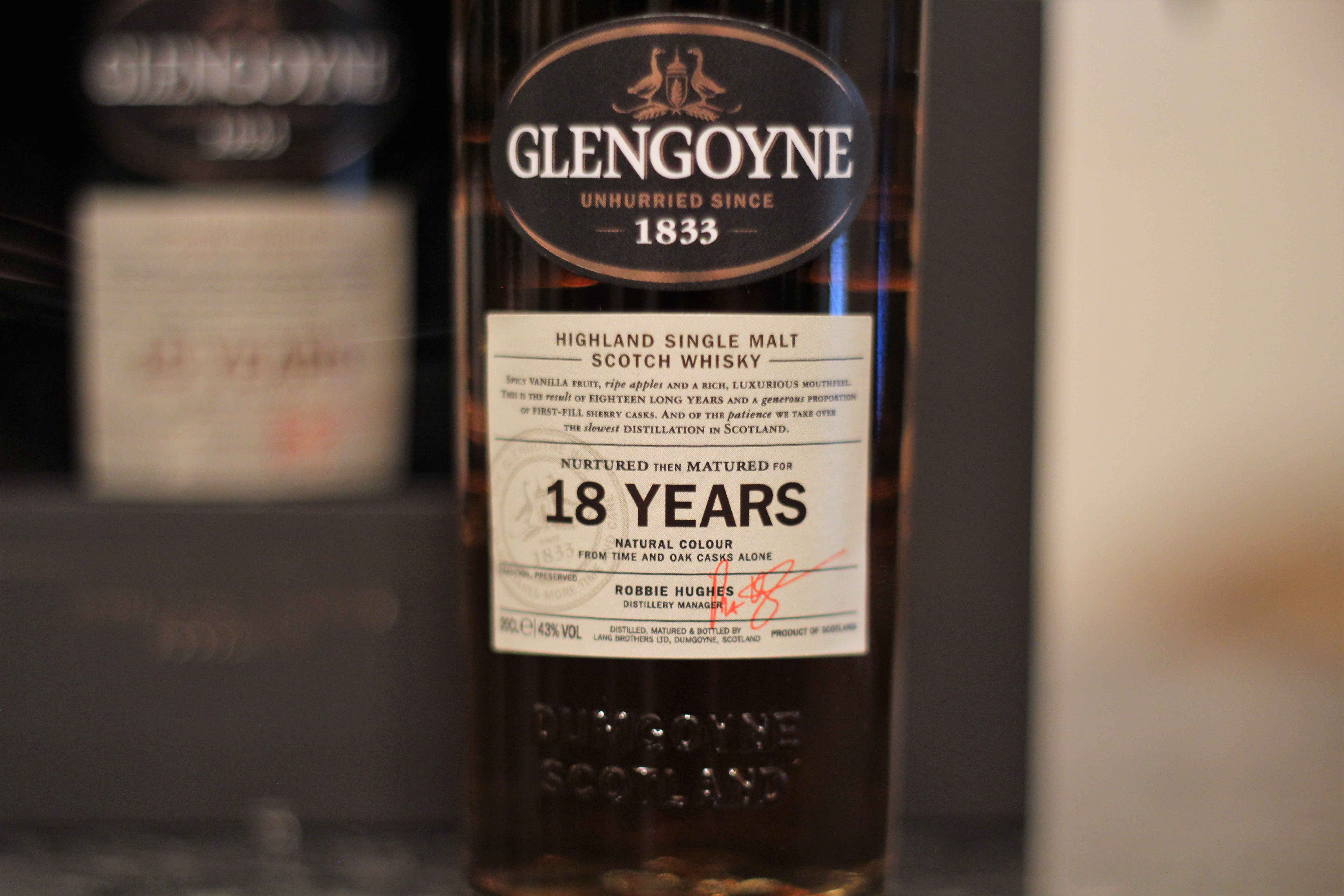 Glengoyne 18y with Dan, Bowick & Steph
