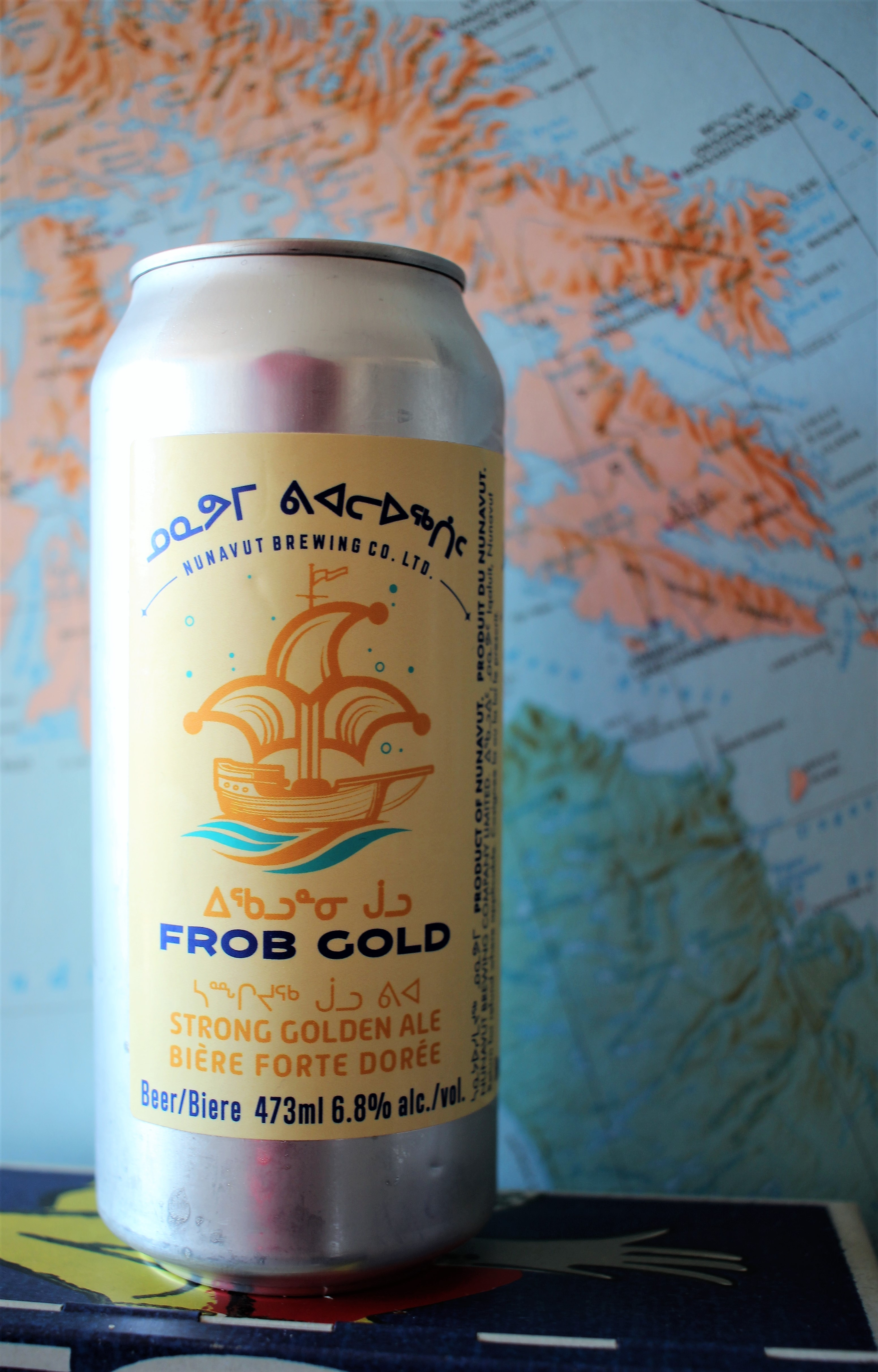 Nunavut Brewing Company ᐃᖃᓗᓐᓂ ᒎᓗ Frob Gold Strong Golden Ale