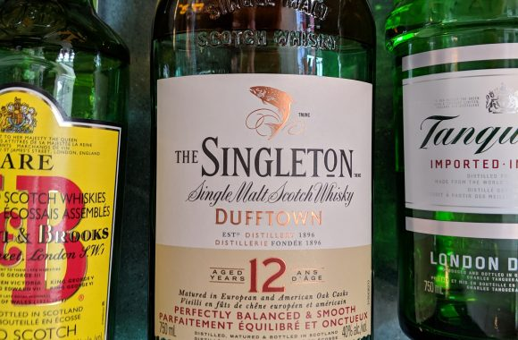 The Singleton 12y Dufftown Single Malt Scotch Whisky in an Air Canada Lounge
